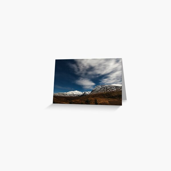 The Black Cuillin By Full Moon Greeting Card