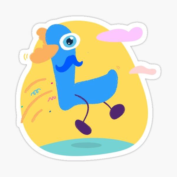 Colourful Letter L Sticker
