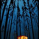 retro twilight camping by SFDesignstudio