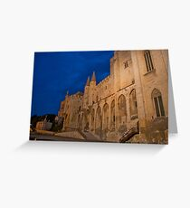 Castle at night in Avignon, France Greeting Card