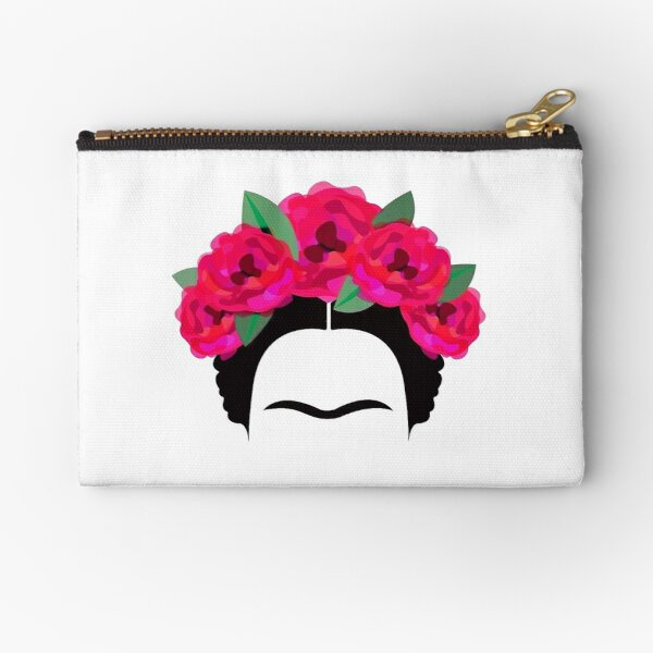Frida Kahlo headband and brows Zipper Pouch