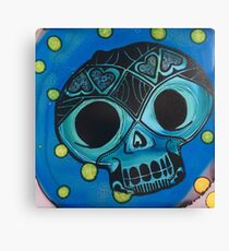Cool Blue Love Skull Wins! Canvas Print