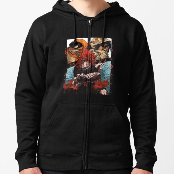 Red Riot Kirishima My Hero Academia Zipped Hoodie