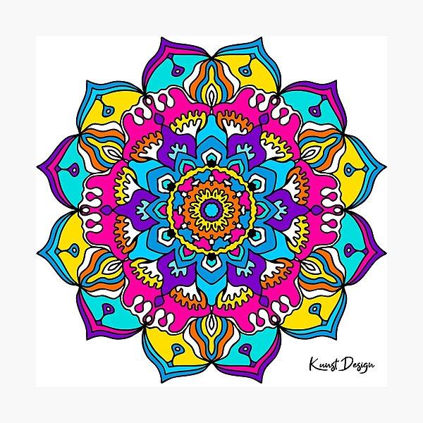 Mandala Good Vibes V1a Photographic Print