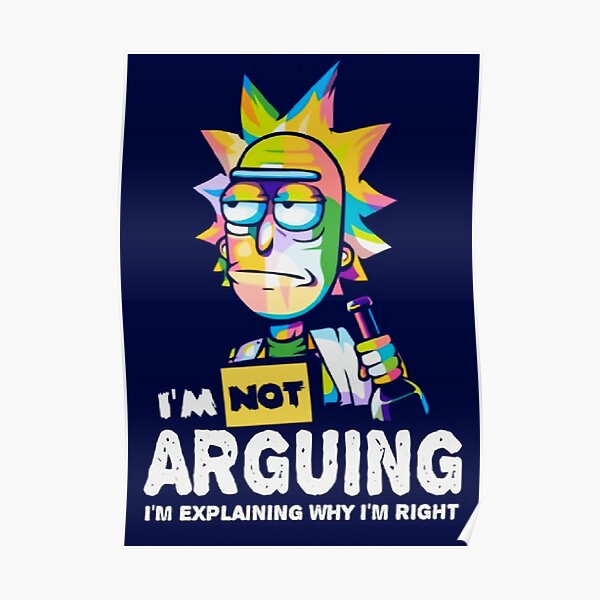 not arguing Poster