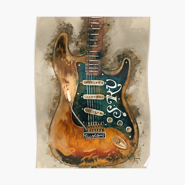 Stevie Ray Vaughan's electric guitar Poster