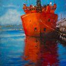Arora  Australis docked in Hobart by Mick Kupresanin