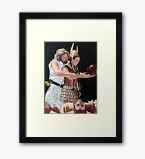 I Just Dropped In Framed Print