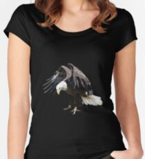 Bald Eagle Fitted Scoop T-Shirt
