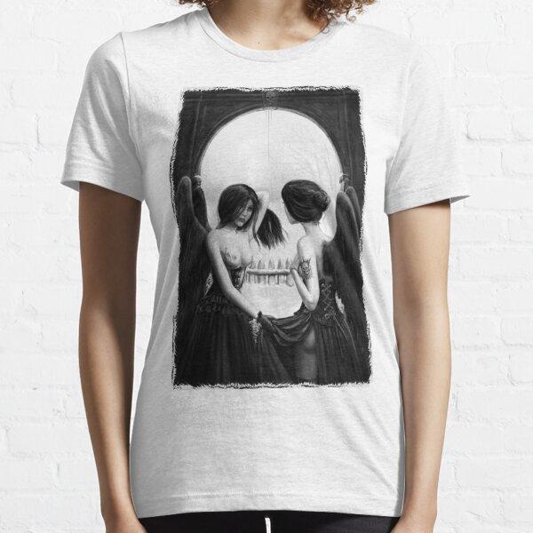 Skull Optical Illusion tee Essential T-Shirt