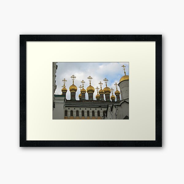 The Verkhospassky Cathedral in the Moscow Kremlin Framed Art Print