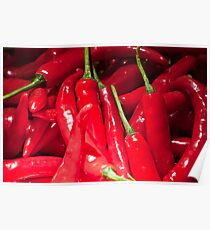 Red hot chilies for sale at the market in Amlapura in Bali, Indonesia Poster