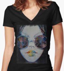Asia Women's Fitted V-Neck T-Shirt