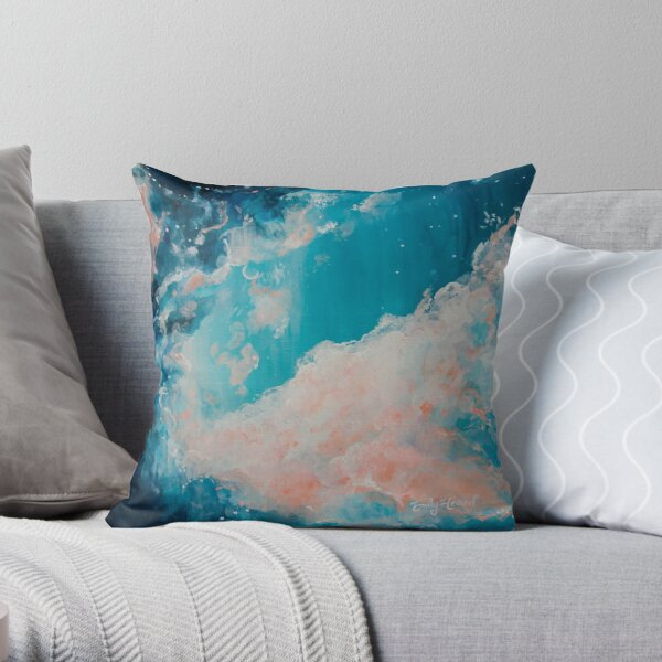 Night sky and moon Throw Pillow