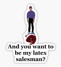 Seinfeld's Latex Salesman Sticker