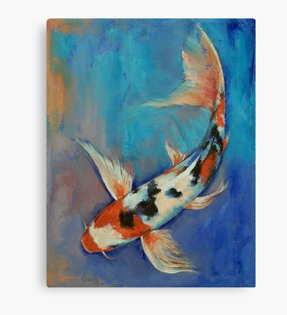 Sanke Butterfly Koi Canvas Print