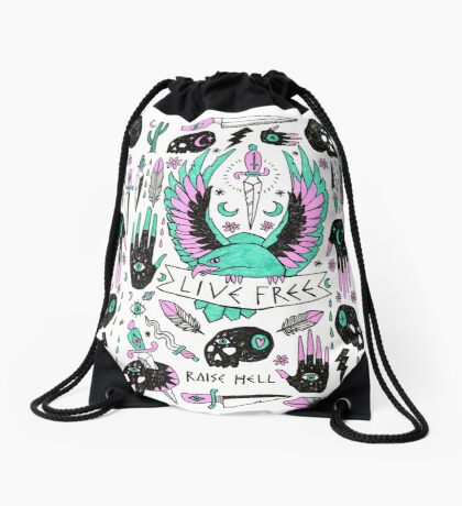 Live Free Drawstring Bag