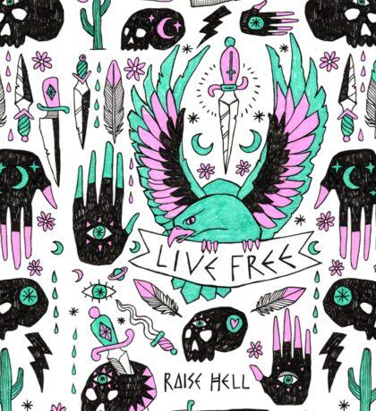 Live Free Sticker