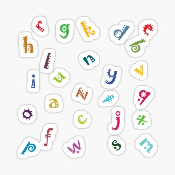 English Alphabet ABCD Sticker