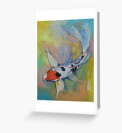 Maruten Butterfly Koi Greeting Card
