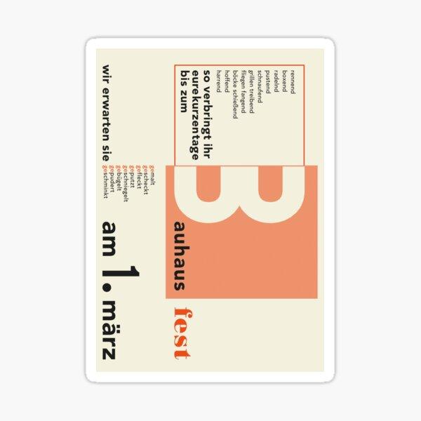 Bauhaus#14 Sticker
