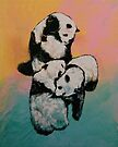 Panda Street Fight by Michael Creese