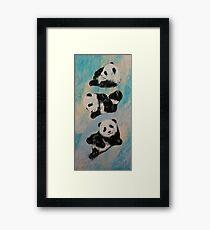 Panda Karate Framed Print