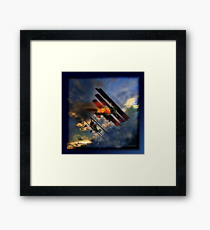 Death Of The Red Baron Framed Print