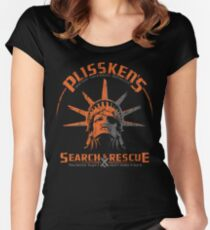 Snake Plissken's  Search & Rescue Pty Ltd Women's Fitted Scoop T-Shirt