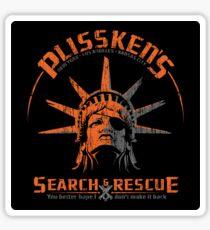 Snake Plissken's  Search & Rescue Pty Ltd Sticker