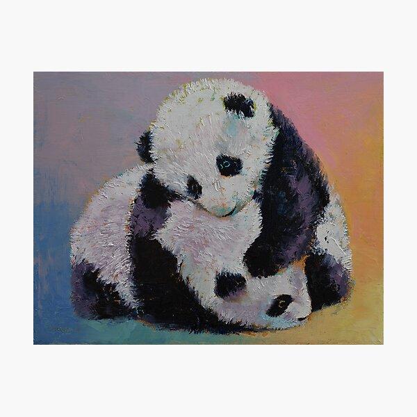 Baby Panda Rumble Photographic Print