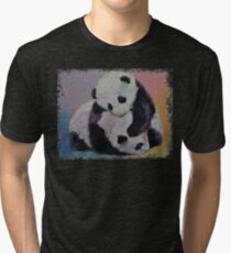 Baby Panda Rumble Tri-blend T-Shirt