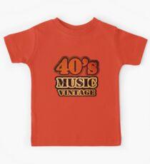 40's Music Vintage T-Shirt Kids Tee
