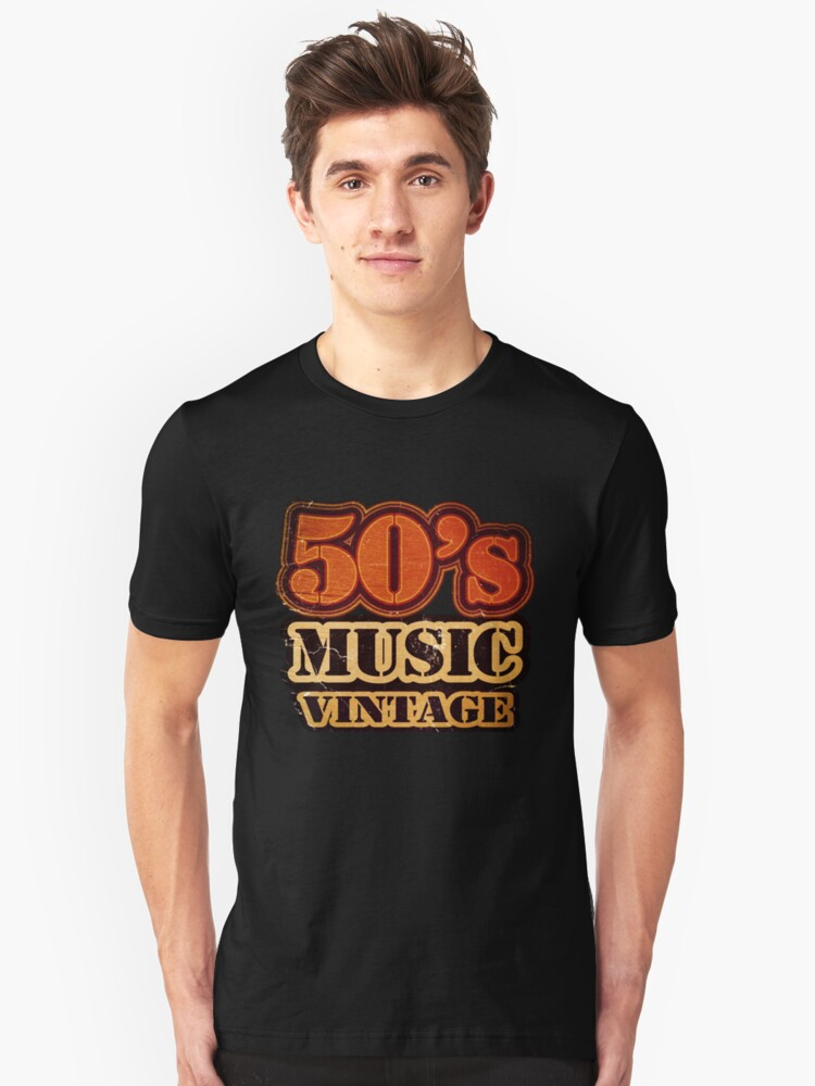 50's Music Vintage T-Shirt by Nhan Ngo