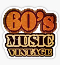 60's Music Vintage T-Shirt Sticker