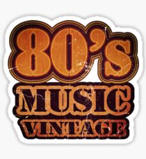 80's Music Vintage T-Shirt Sticker