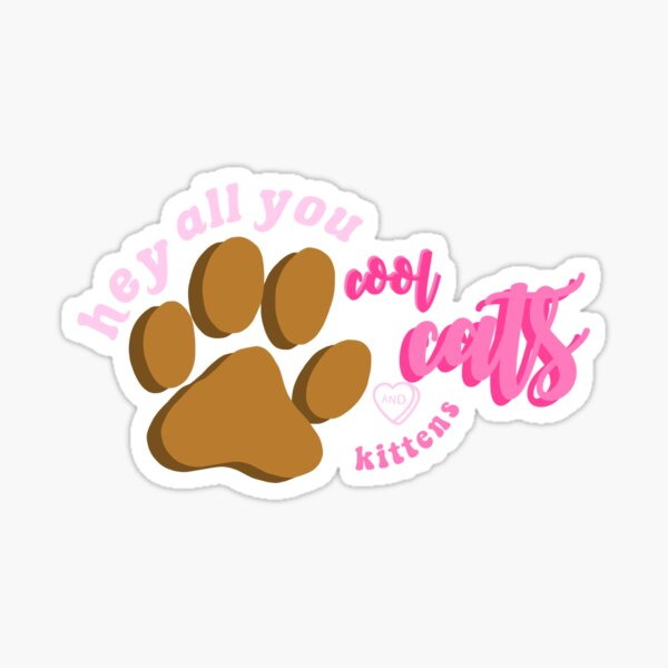 Cool Cats and Kittens Sticker