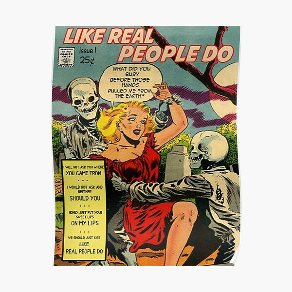 Like Real People Do - Hozier Retro Comic Poster