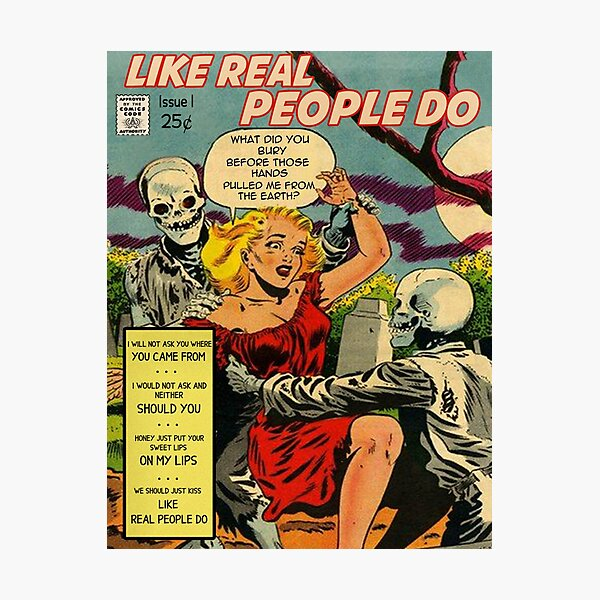 Like Real People Do - Hozier Retro Comic Photographic Print