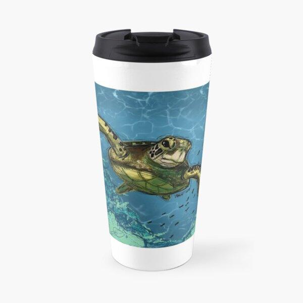 Sea Turtle digital art  Travel Mug