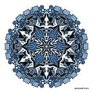 Mandala 34 Coloured v1.0 Prints, Cards & Posters by mandala-jim