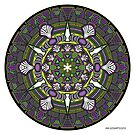 Mandala drawing 33 Coloured v1 Prints, Cards & Posters by mandala-jim