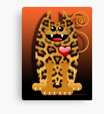 LOVELY LEOPARD (card) Canvas Print