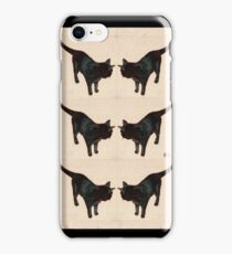 Bombay Black Cat  oil painting No. 1 iPhone Case/Skin