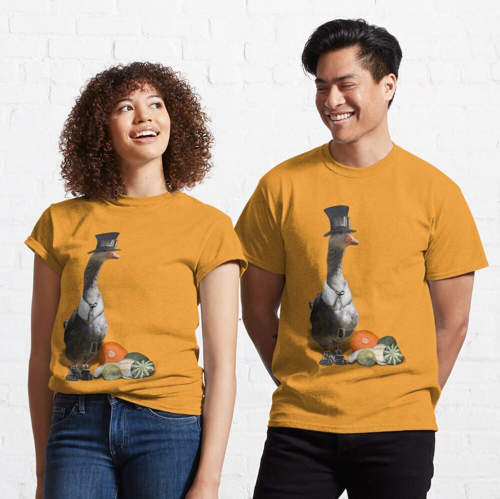Thanksgiving Pilgrim - Goose  Classic T-Shirt