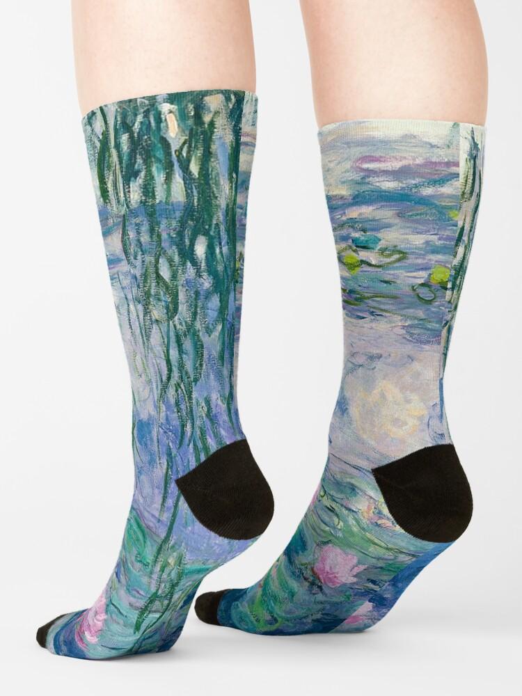 Alternate view of Water Lilies Claude Monet Fine Art Socks