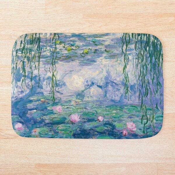 Water Lilies Claude Monet Fine Art Bath Mat