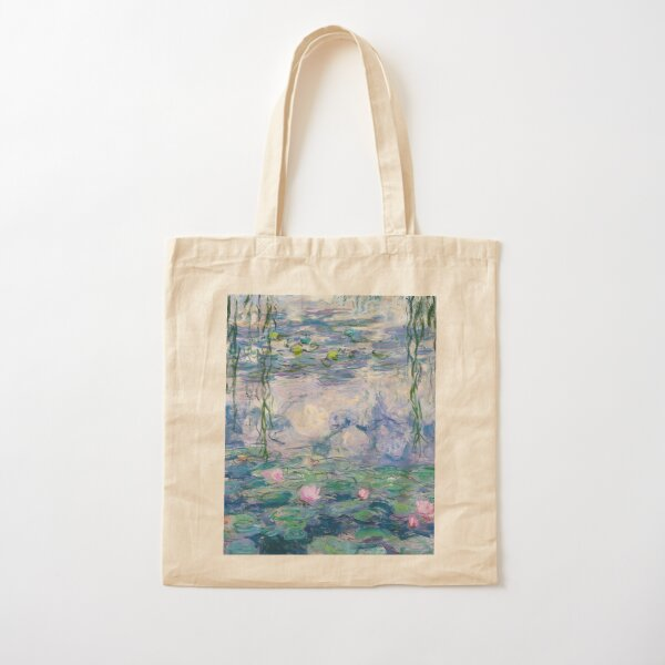 Water Lilies Claude Monet Fine Art Cotton Tote Bag