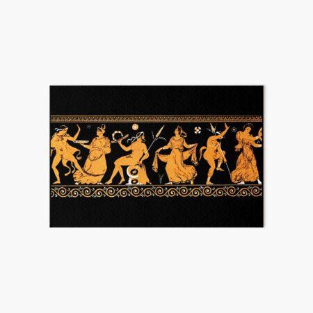 Bacchanalia Greek Vase Attic Red figure Art Board Print
