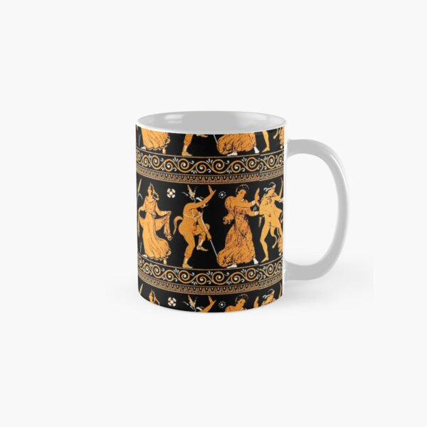 Bacchanalia Greek Vase Attic Red figure Classic Mug